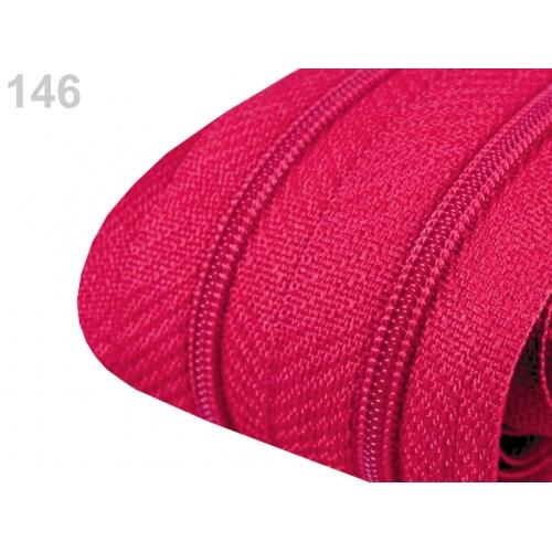 Zip sytě růžový 3mm