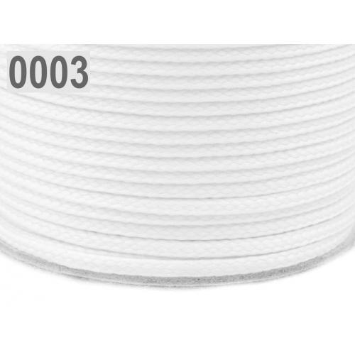 Šňůra  bílá PES Ø4 mm