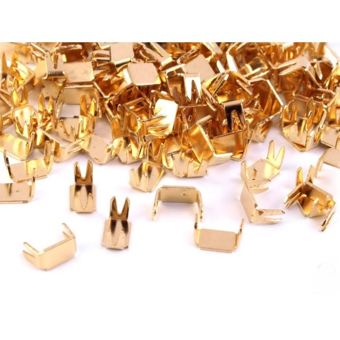 Koncovka na zip zlatá (10ks)