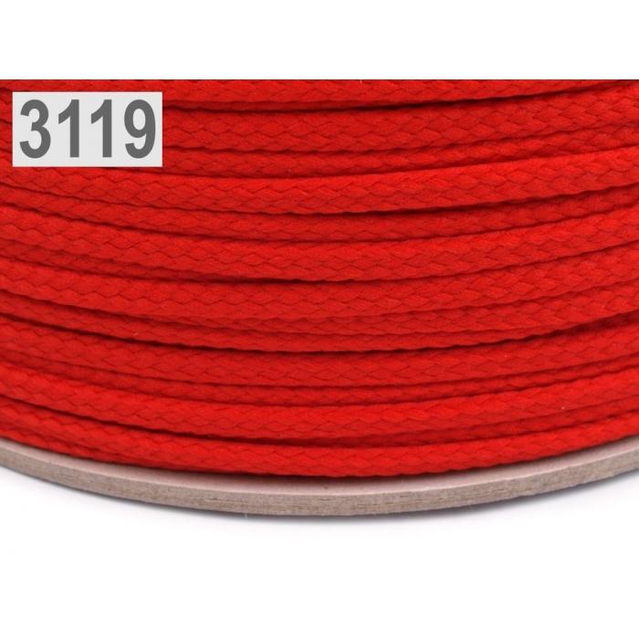 Šňůra  červená PES Ø4 mm