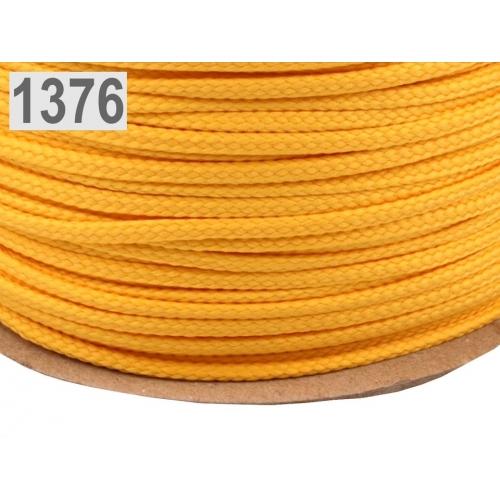 Šňůra oranžová PES Ø4 mm
