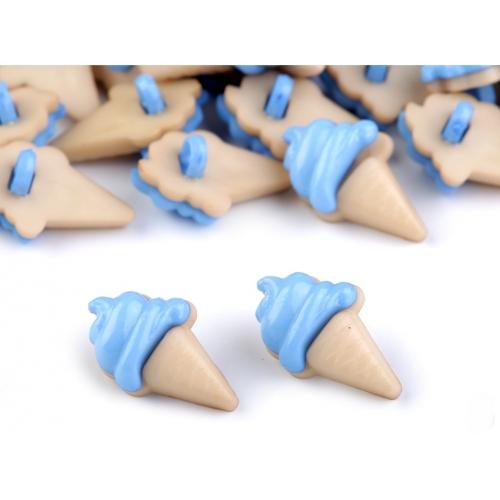 Knoflík 101 zmrzlina modrá