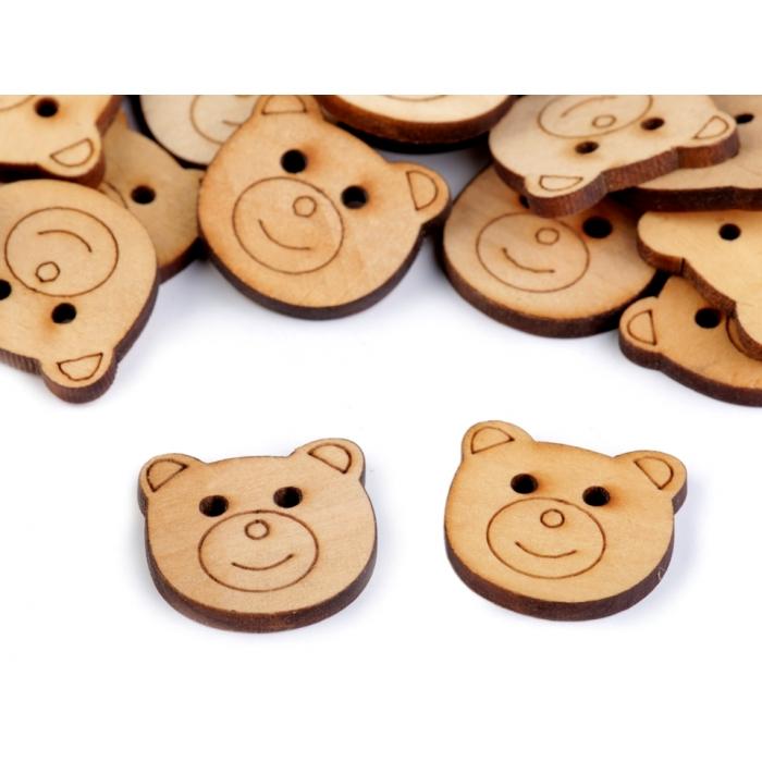Knoflík 134 medvěd