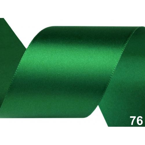 Stuha zelená  šíře 40mm