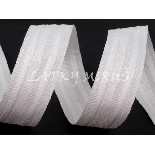 Záclonovka bílá (25mm)