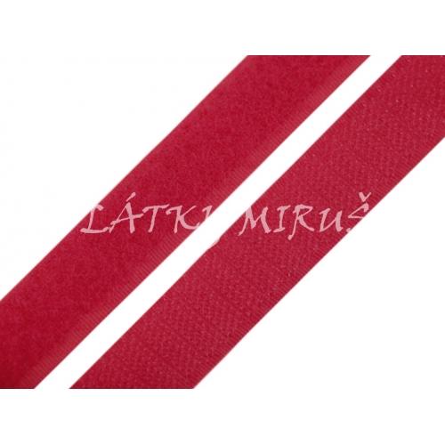 Suchý zip červený 20mm