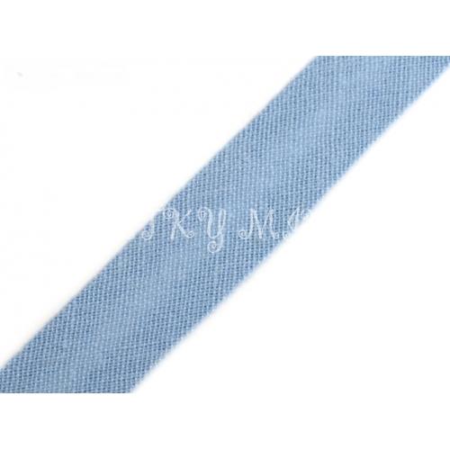 Šikmý proužek - sv.modrá 14mm