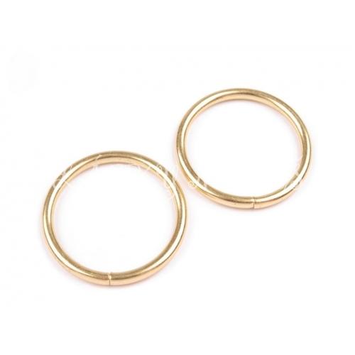 Kroužek Ø30 mm zlatý