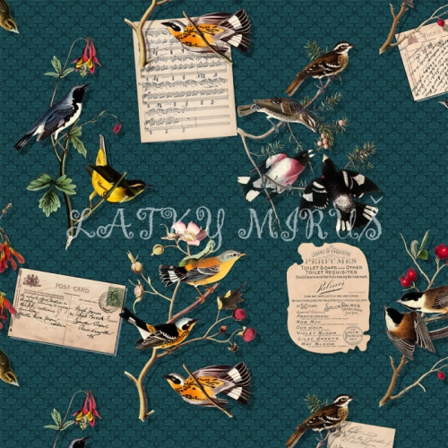 Panel ptáci - digi tisk