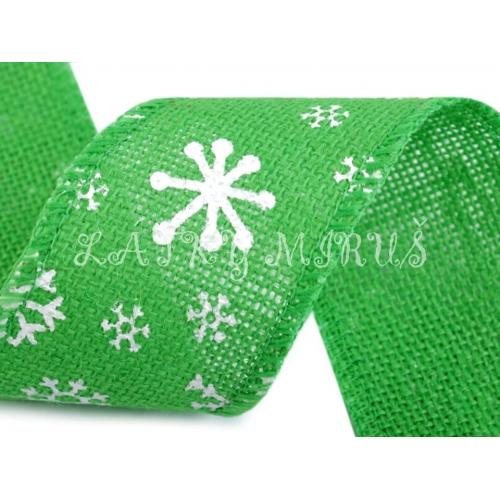 Stuha jutová - zelená
