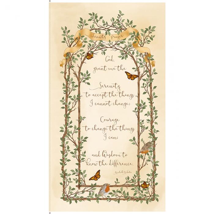 Panel Serenity prayer (60x110cm)