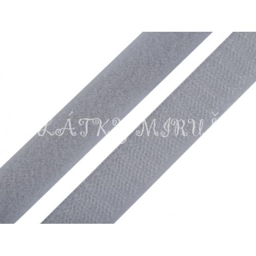 Suchý zip šedý 20mm