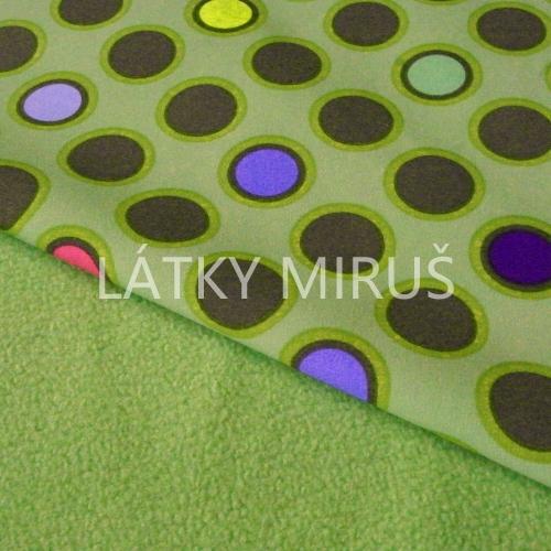 Soft shell puntík na zelené