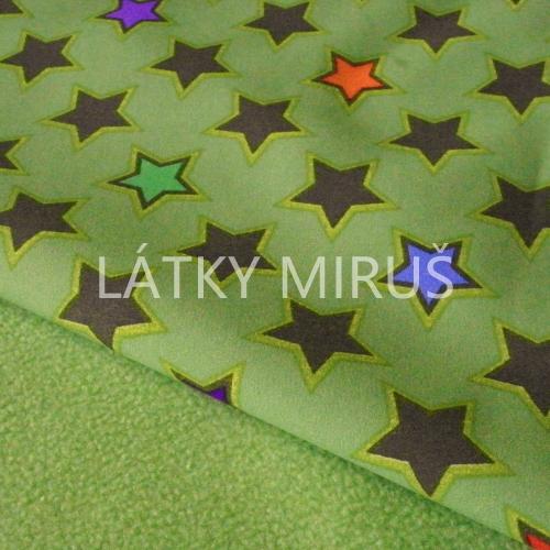 Soft shell hvězdy na zelené