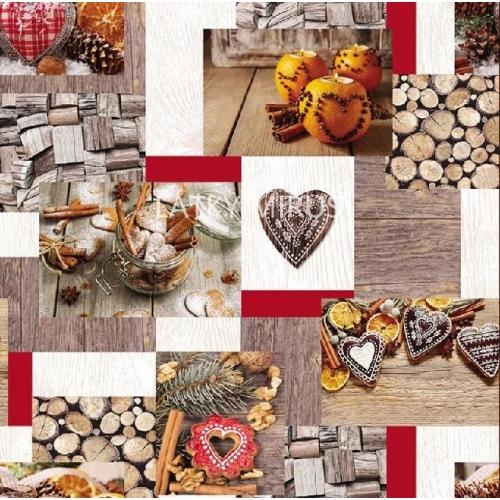 Vánoční patchwork  - digi tisk