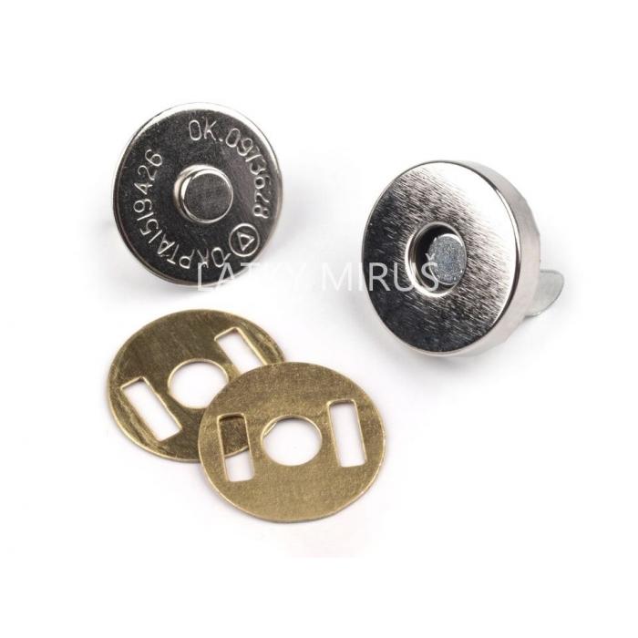 Magnetické zapínání  Ø15 mm nikl