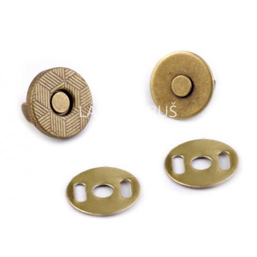 Magnetické zapínání  mosaz Ø10 mm