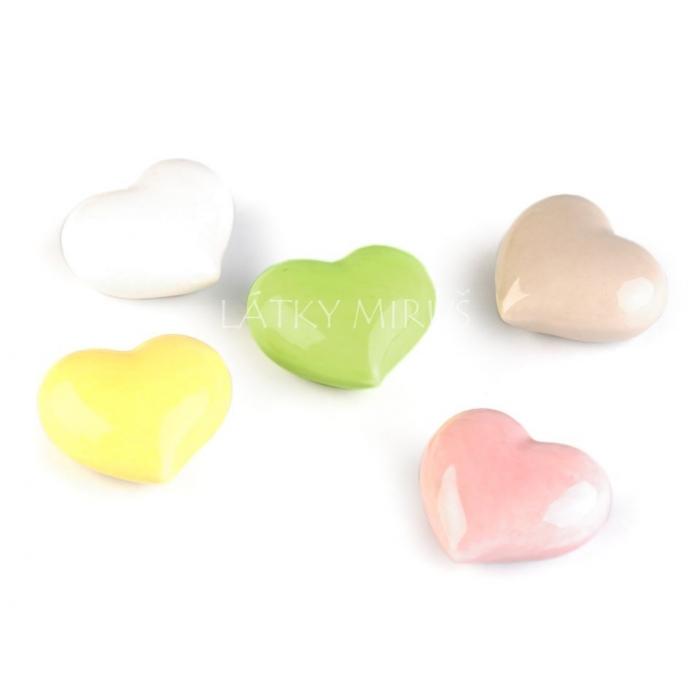 Keramické srdce zelené