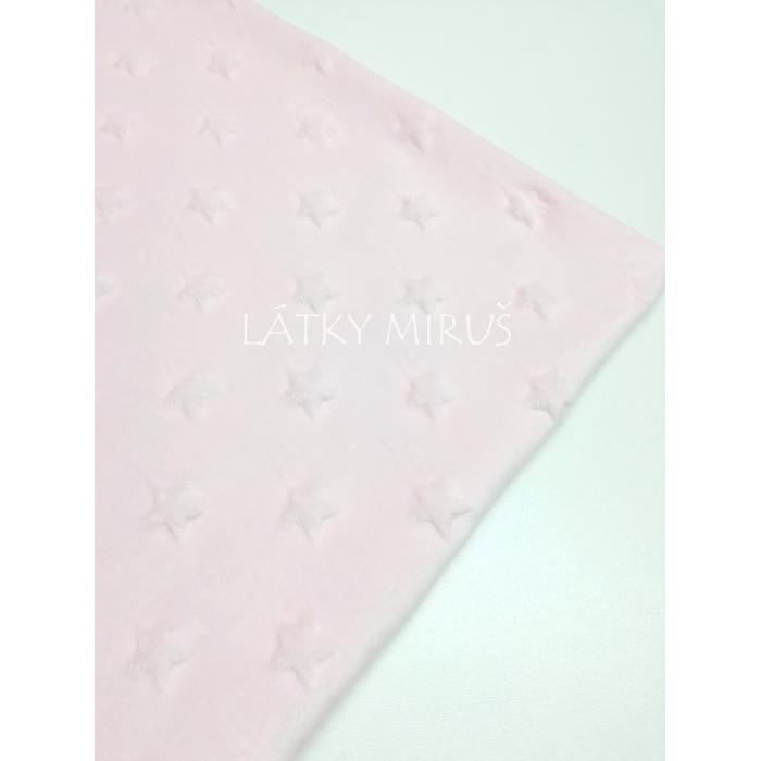 Minky hvězdy protlačené - sv.růžové