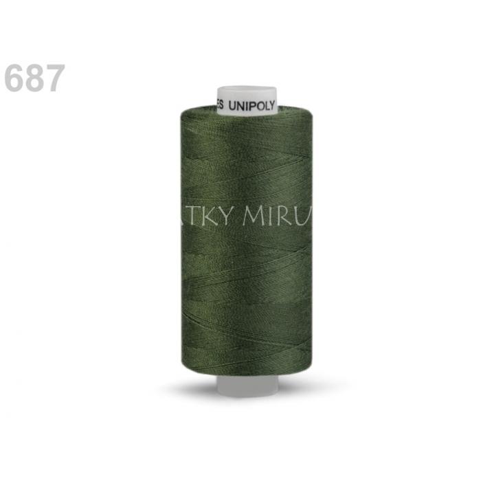 Nit 687 olivová zeleň tmavá