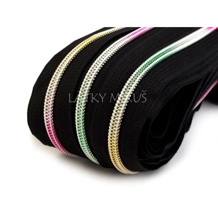 Duhový zip 5mm