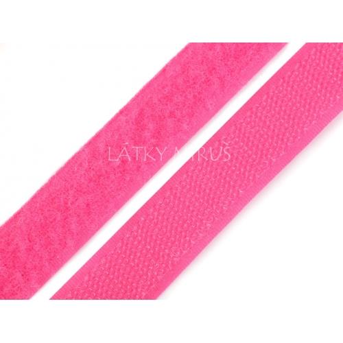 Suchý zip sytě růžový 20mm