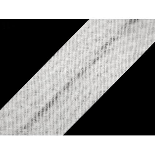 Šikmý proužek 30mm - bílý