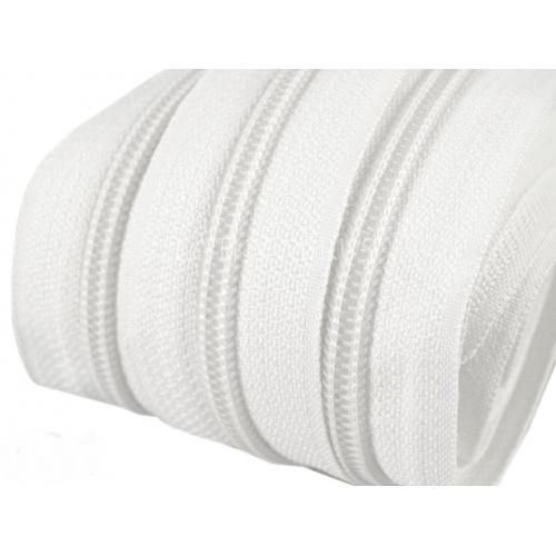 Zip spirálový 5mm - bílý