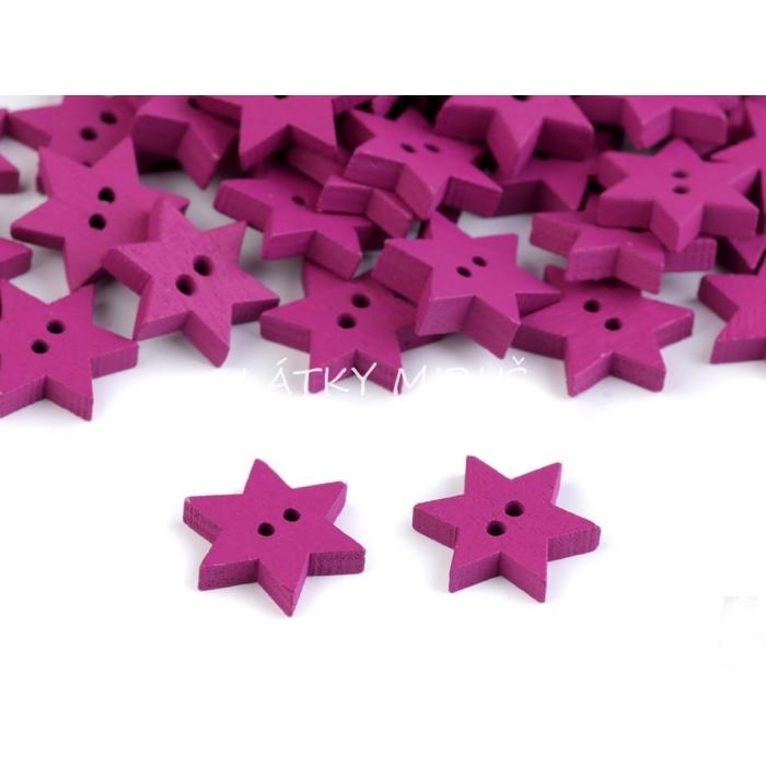 Knoflík hvězda fialová