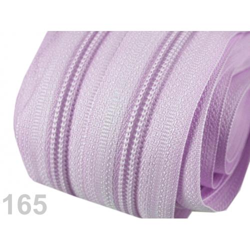 Zip spirálový 5mm - fialový