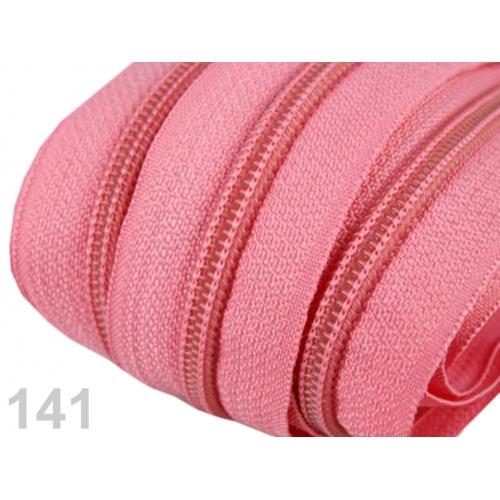 Zip spirálový 5mm - růžový