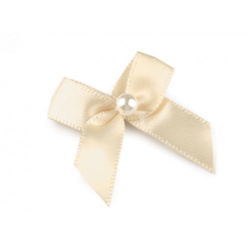 Mašle s perlou smetanová (1ks)