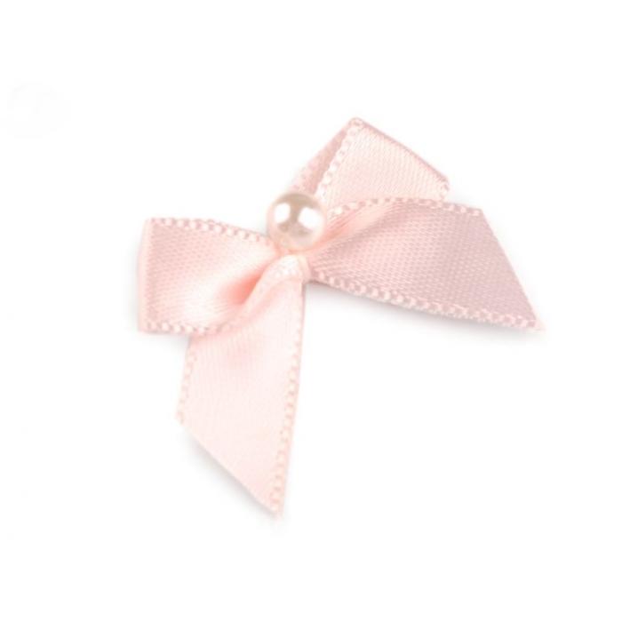 Mašle s perlou růžová (1ks)