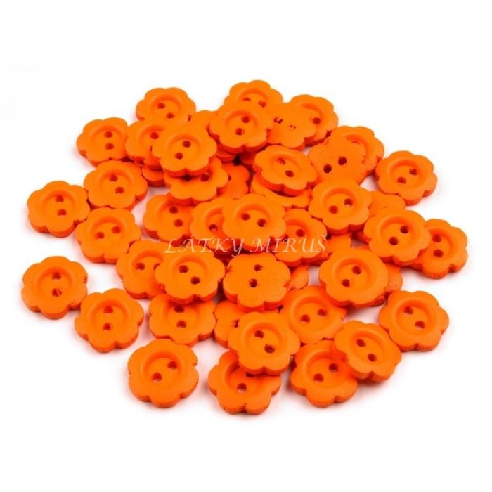 Knoflík 367 kvítko oranžové