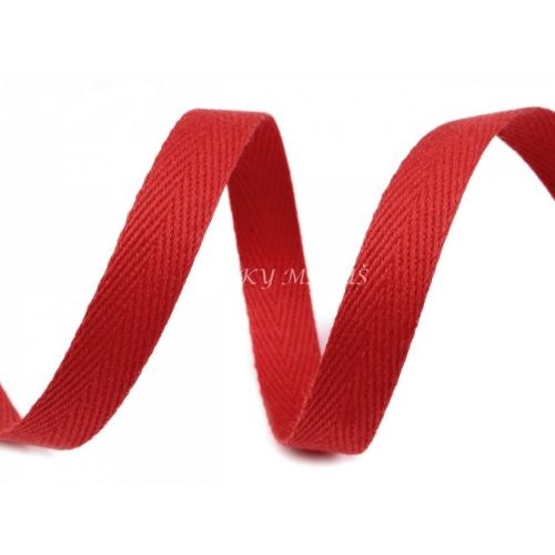 Keprovka - tkaloun červený 8mm