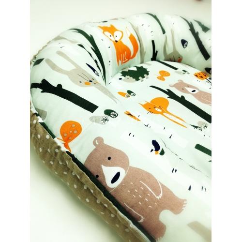 Hnízdečko pro miminko  - zvířata na mentolové