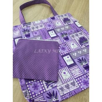 Kapsička na nákupní tašku fialová