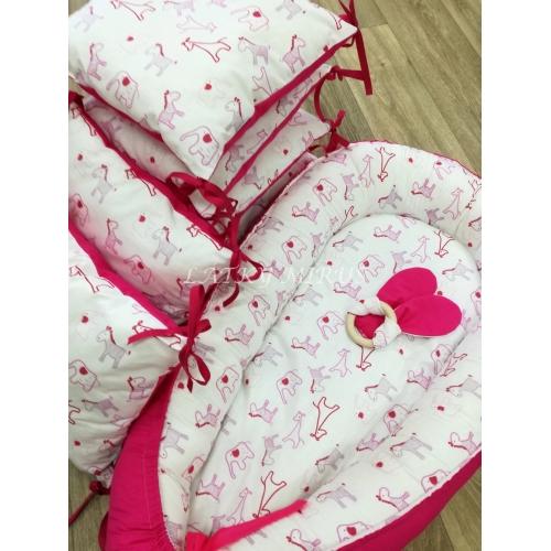 Mantinely  - 6ks sytě růžové