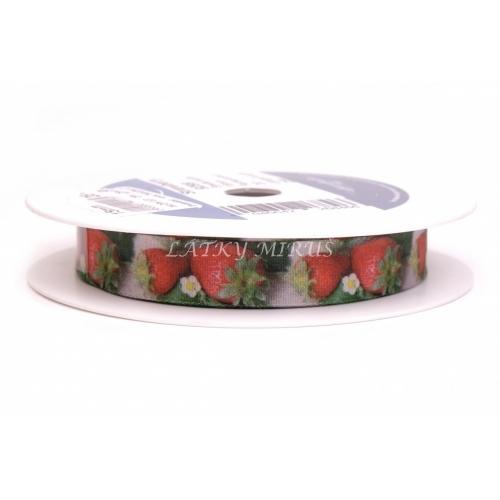 Stuha jahody s drátem 15mm