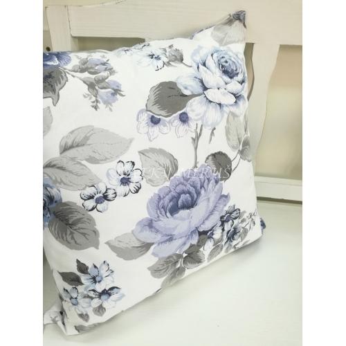 Povlak 40x40 modré růže