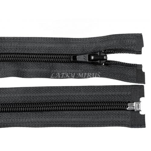 Spirálový zip šíře 5 mm délka 45 cm bundový  černý