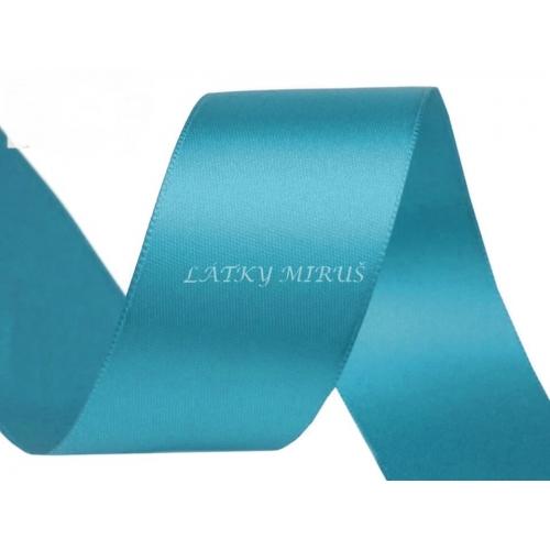 Stuha atlasová tyrkysová 40mm