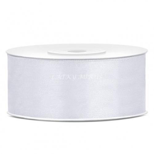 Stuha atlasová bílá 25mm
