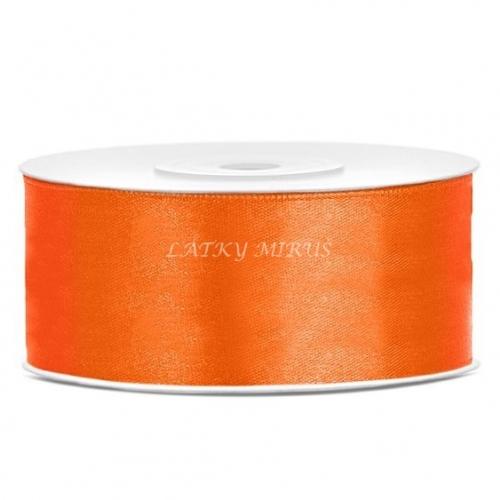 Stuha atlasová oranžová 25mm
