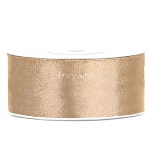 Stuha atlasová zlatá 25mm