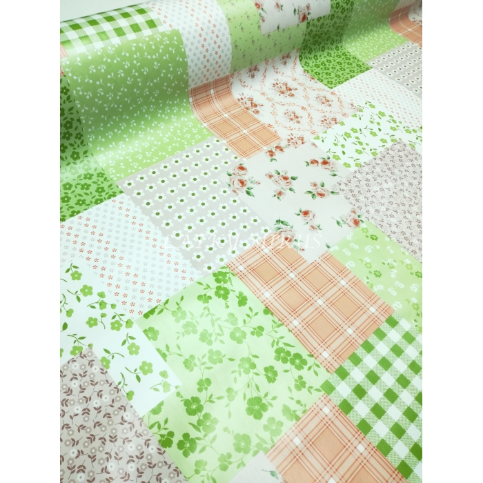 PVC ubrusovina patchwork