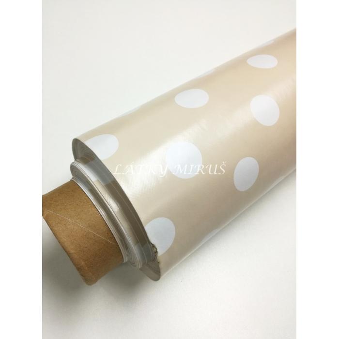PVC ubrusovina puntík
