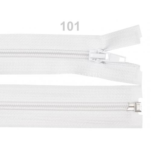 Spirálový zip šíře 5 mm délka 30 cm bundový bílý