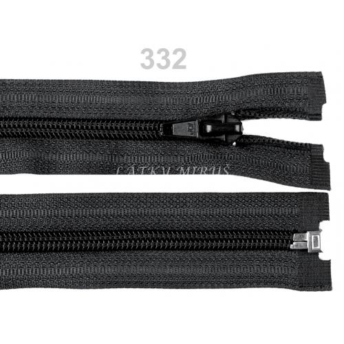Spirálový zip šíře 5 mm délka 30 cm bundový černý