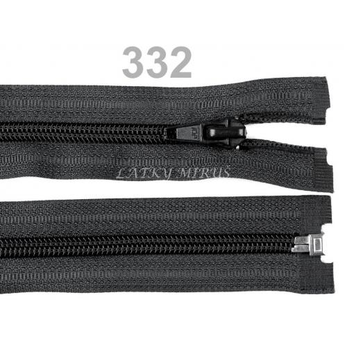 Spirálový zip šíře 5 mm délka 55 cm bundový černý